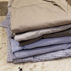 Bundle 6 men's long sleeved dress shirt